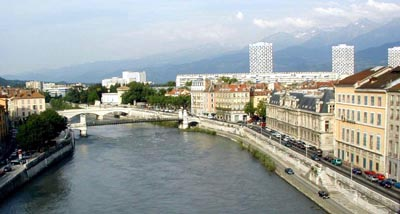 River view of Grenoble